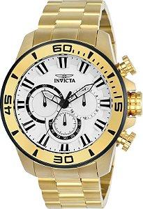Relógio Invicta Pro Diver 22589 Cronografo 48mm Banhado Ouro 18k