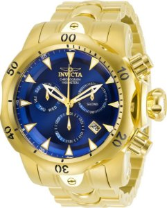 Relógio Invicta Venom 29643 Reserve Banhado Ouro 18k Swiss 53.7mm Cronografo