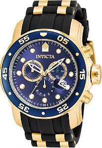 Relógio Invicta Pro Diver 17882 Cronografo 48mm Banhado Ouro 18k
