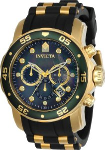 Relógio Invicta Pro Diver 17883 Cronografo 48mm Banhado Ouro 18k