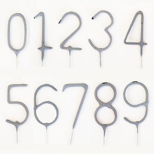 Vela Estrelinha Formato Número