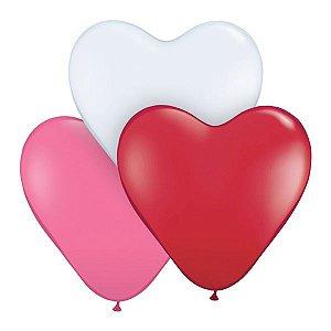 Balão Látex Formato Coração