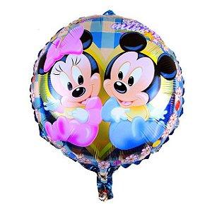 Balão Mickey e Minnie Baby