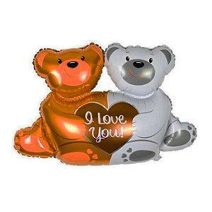 Balão Metalizado Ursinhos I Love You