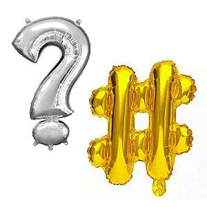 Balões Metalizados de Símbolos