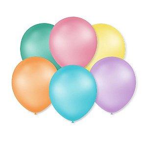 Balões Pastéis Perolizados