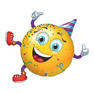 Balão Metalizado Emoji Festeiro