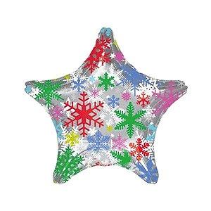 Balão Metalizado Estrela Natalina