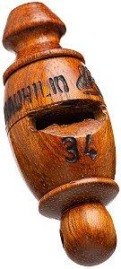 Pio 34 em Madeira Jatobá - Apito para Esportes e  Percussão