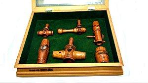Coleção C - 6 Pios - Tampo de Madeira