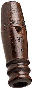 Pio 37 em Madeira Exótica de Reaproveitamento - Ave Inhambu de Cabeça Vermelha