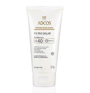 Filtro Solar Fps 40 Gel Creme Incolor Adcos 50g