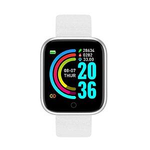 relogio inteligente smartwatch feminino mascu d20 pro branco