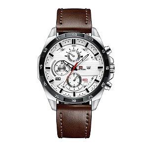 relógio masculino prata preto esportivo VA VA VOOM 216MA3