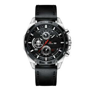 relógio masculino preto prata esportivo VA VA VOOM 216PR2