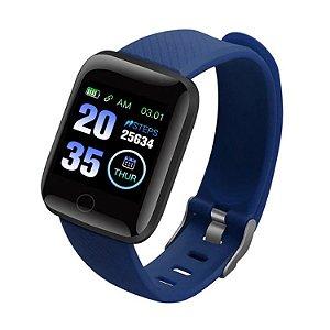 Relógio Digital Feminino Masculino Smartwatch Inteligente azul