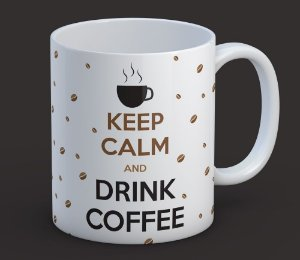Caneca Keep Calm and Drink Coffee