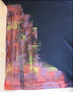 Camiseta Preta Unisex Side Print