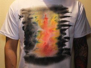 Camiseta Branca Unisex Hot Colors by Roque Agnesini Pandini