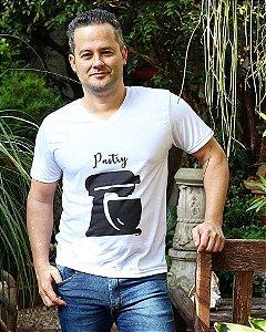 Camiseta Pastry Branca Gola V