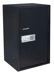 Cofre Senha + Chave C/ 2 prateleiras e Fundo Falso - 100EG black