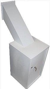 Cofre Boca de Lobo Coletor de Parede Mod. Seven C/ Chave P/ Lotéricas e Postos