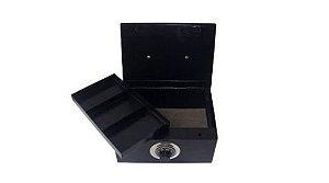 Porta Jóias/ valores Médio com Segredo Black