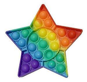 Pop It Fidget Toy Star Brinquedo Anti Stress Sensorial