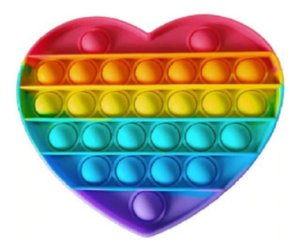 Pop It Fidget Toy Heart Brinquedo Anti Stress Sensorial