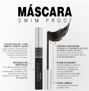Máscara Swim Proof Makiê cor Preto