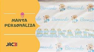 Manta para bebê personalizada com o nome e tema