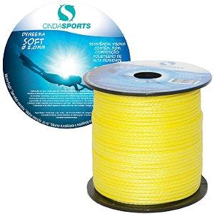 Linha Dyneema SOFT 2,0mm (100% UHMWPE) Onda Sports (Amarela)