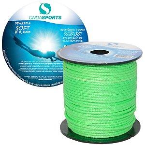 Linha Dyneema SOFT 2,2mm (100% UHMWPE) Onda Sports (Verde)
