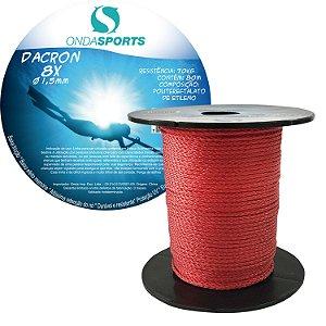 Linha Dacron (8 Cordas) 1,5mm Onda Sports (Vermelha)