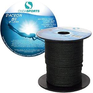 Linha Dacron (8 Cordas) 1,5mm Onda Sports (preta)