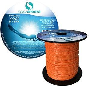 Linha Dyneema SOFT 1,8mm (100% UHMWPE) Onda Sports (Laranja)