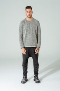 Suéter Masculino Listrado/Mescla