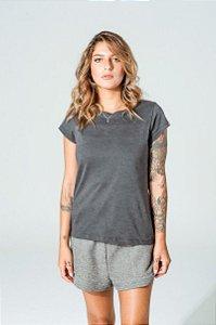 Camiseta Oversized Feminina Grafite