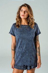 Camiseta Oversized Feminina Marinho