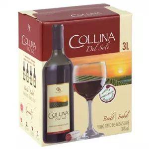 Vinho Collina Del Sole Tinto Suave 3 Litros Bag in Box