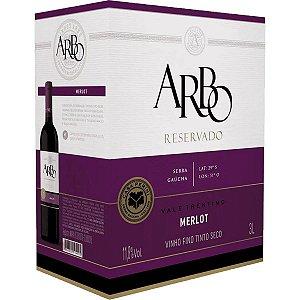 Vinho Arbo Merlot Bag in Box 3 Litros