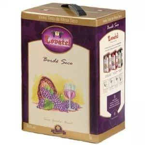 Vinho Lovatel Bordô Seco Bag in Box 5 litros