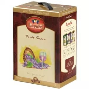 Vinho Lovatel Bordô Suave Bag in Box 5 litros