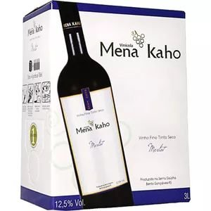 Vinho Mena Kaho Merlot Bag In Box 3 Litros