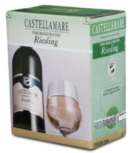 Vinho Castellamare Riesling Bag in Box 3 Litros