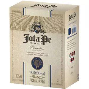 Vinho Jota Pe Branco Seco Tradicional Bag in Box 3 Litros