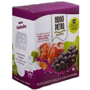 Suco de Maçã e Uva Hugo Pietro Integral Bag in Box 3 Litros