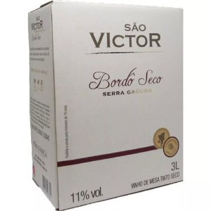 Vinho São Victor Bordô Seco Bag in Box 3 Litros