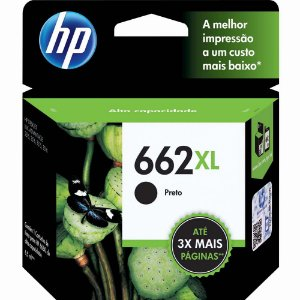 CARTUCHO ORIGINAL HP 662XL PRETO 6,5ML CZ105AB