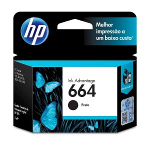 CARTUCHO ORIGINAL HP 664 PRETO 2,0ML F6V29AB